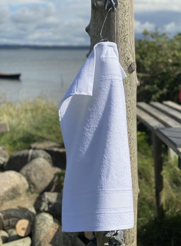 Luksus gæstehåndklæde 40x60 i hvid, Arosa Design fra finehome
