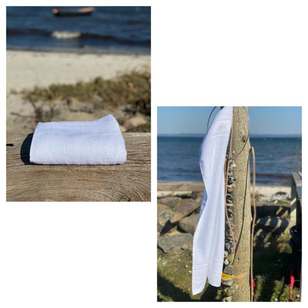 Hvidt gæstehåndklæde Arosa Design