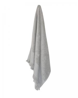 Grå badehåndklæder 70x140 med frynser