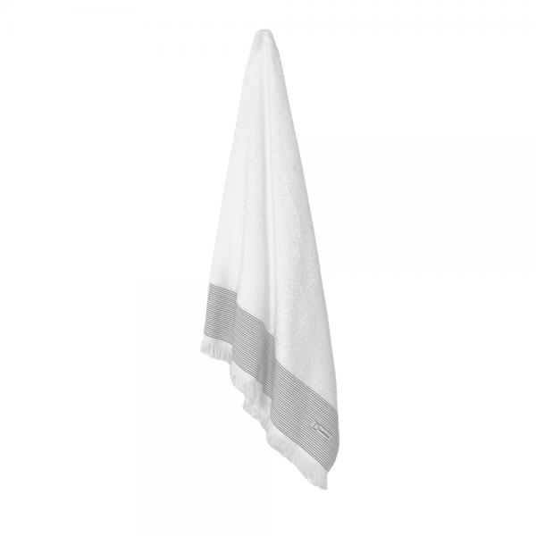Hvide badehåndklæder 70x140 med frynser