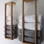 Badehåndklæder 70x140 i håndklædeholder