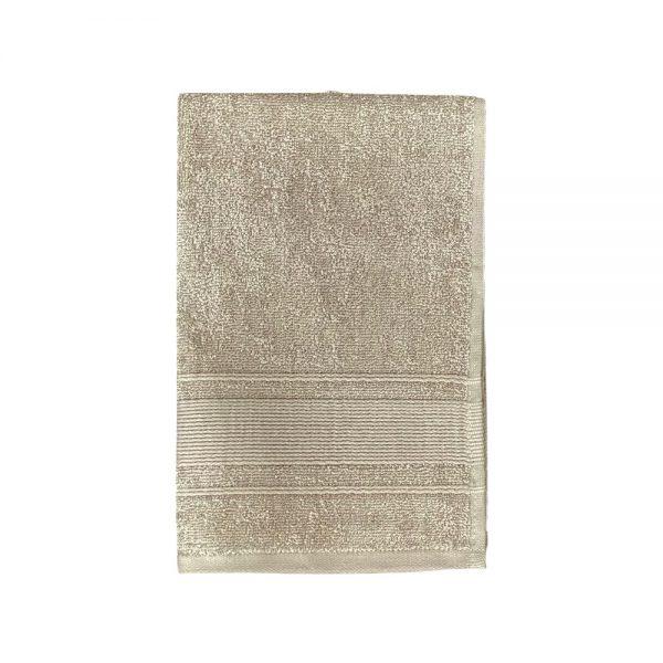 Beige gæstehåndklæde 40x60 cm Arosa Design finehome
