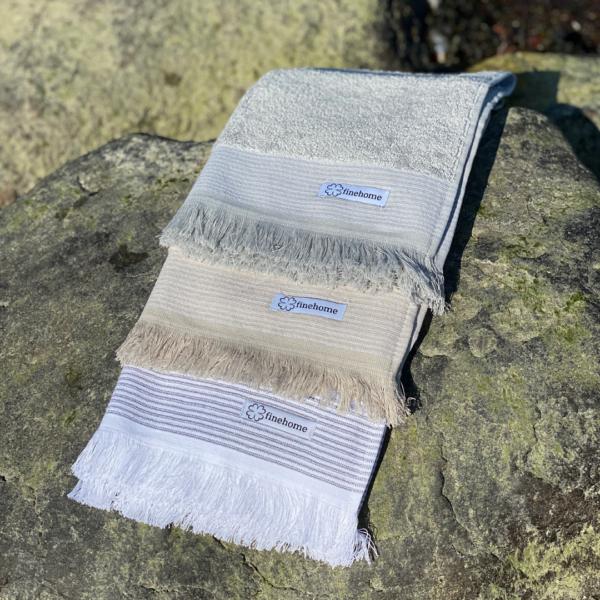 Håndklæder med frynser fra finehome finehome