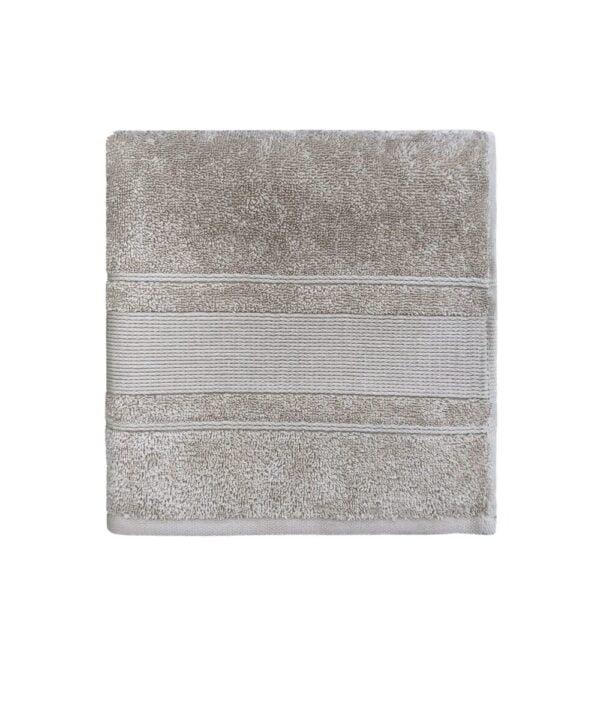 AROSA DESIGN Håndklæde Beige 50X100 cm i 100% bomuld fra finehome