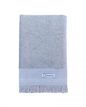 Små gæstehåndklæder i grå fra finehome - Cenon Design med frynser