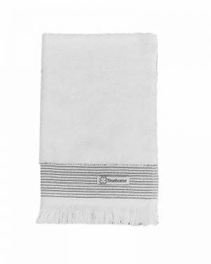 Gæstehåndklæde hvid finehome Cenon Design 40x60 cm