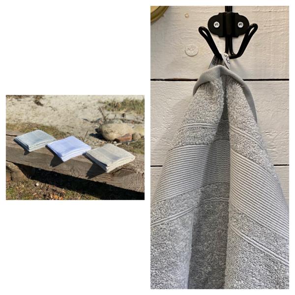Grå håndklæde 50x100 Arosa Design i 100% blød bomuld