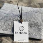 Grå gæstehåndklæde fra Arosa Design - finehome