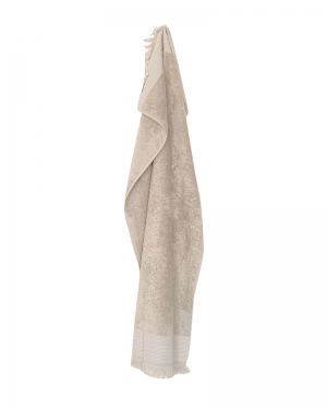 Haandklaede 50x100 beige Cenon Design med frynser