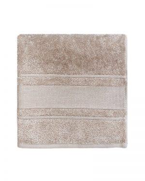 Håndklæde beige 50x100 cm bomuldshåndklæde Arosa Design fra finehome