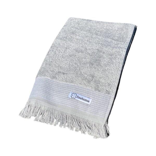 Lille luksus gæstehåndklæde i grå fra finehome