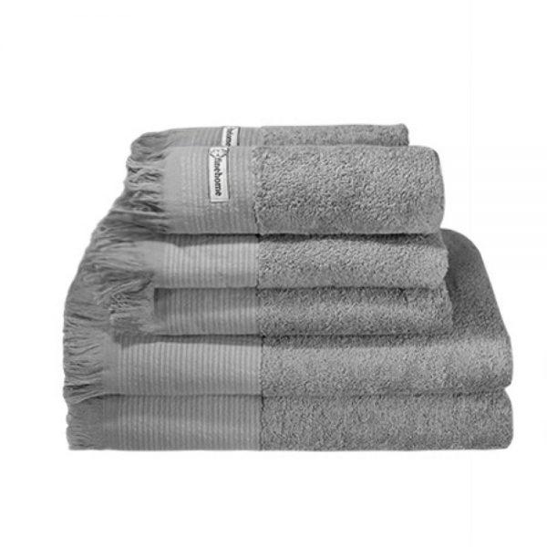 Grå håndklæder i 100% bomuld Cenon Design fra finehome