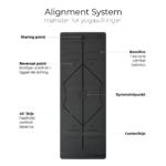 Line baun danielsen yogamaatte 4,5mm med positionslinjer