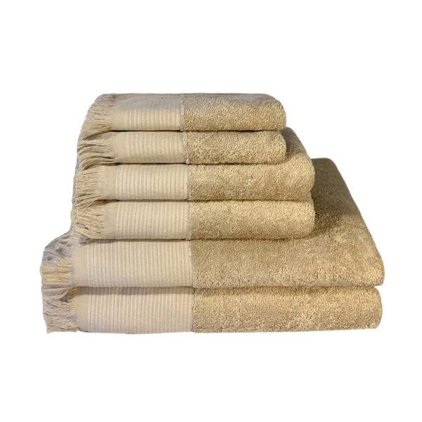 Beige håndklæder Cenon Design fra finehome