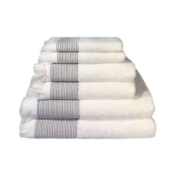 Hvidt håndklæde bomuld