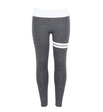 Gym Fitness Yoga Leggings graa og hvide