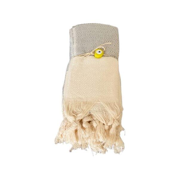 Klassisk hammam håndklæde pakke 2 stk - grå fra finehome
