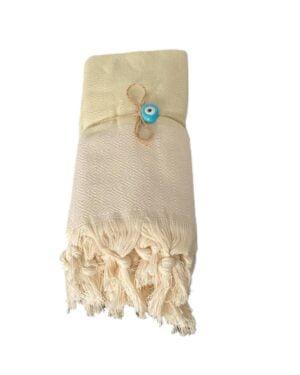 Klassisk hammam håndklæde pakke 2 stk - Lys mint grøn