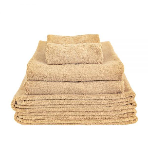 Alba Design økologiske håndklæder i sand / yellow i smukt design fra finehome