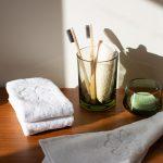 30x30 cm økologisk hvid vaskeklud Alba Design fra finehome
