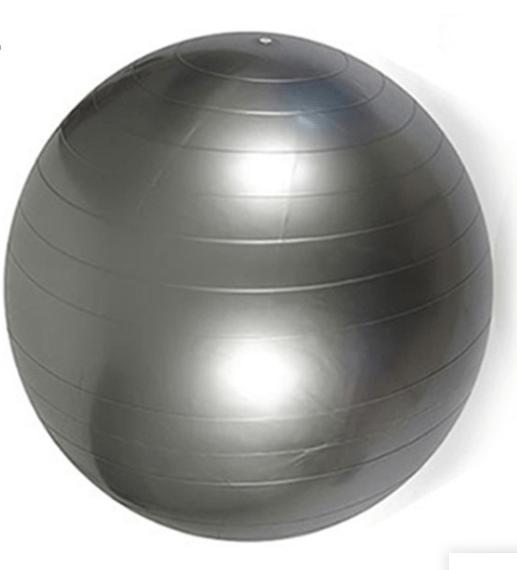 Træningsbold & Fitnessbold i grå 55 cm fra finehome