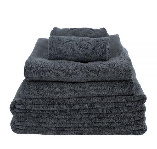 håndklædepakke Alba Design grå finehome organic hearts