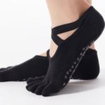 Køb yoga sokker fra finehome sorte yogasokker med tæer