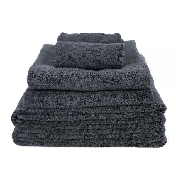 Grå håndklædepakke i økologisk bomuld fra finehome