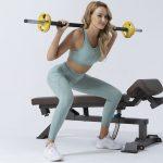 sports bh med lynlås til yoga, fitness og løb