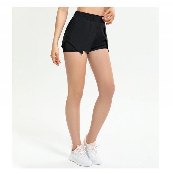 sorte shorts til dame med indershorts til dame