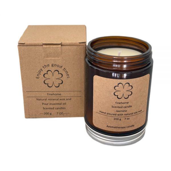 200 gram jasmin duft aromaterapi lys med 40 brændetimer