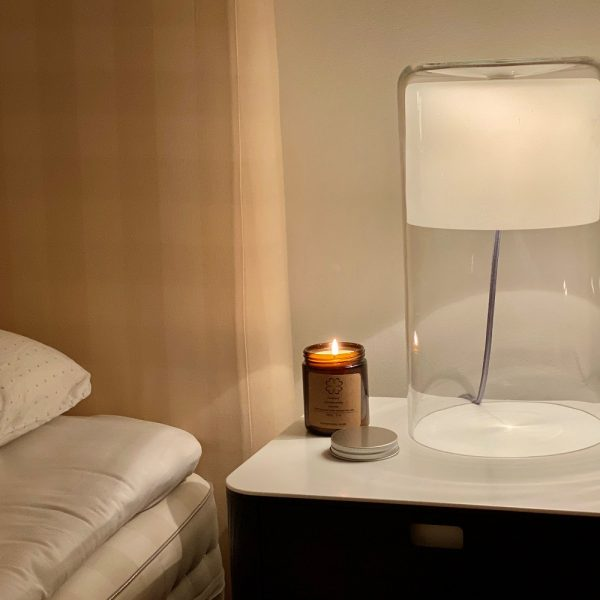 aromaterapi lys i glas med jasmin duft