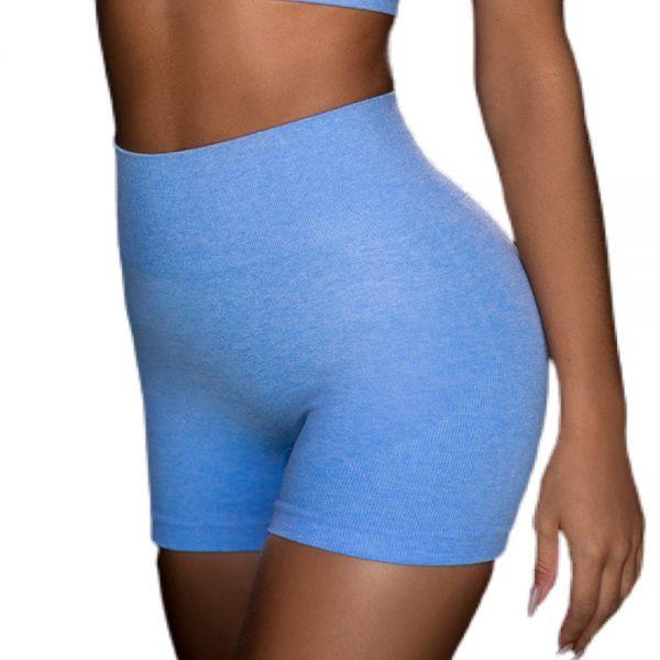 lyseblå shorts til kvinder med god elastik og god pasform