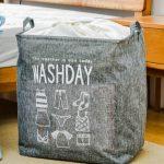 Snavsetøjskurv grå til opbevaring af vasketøj