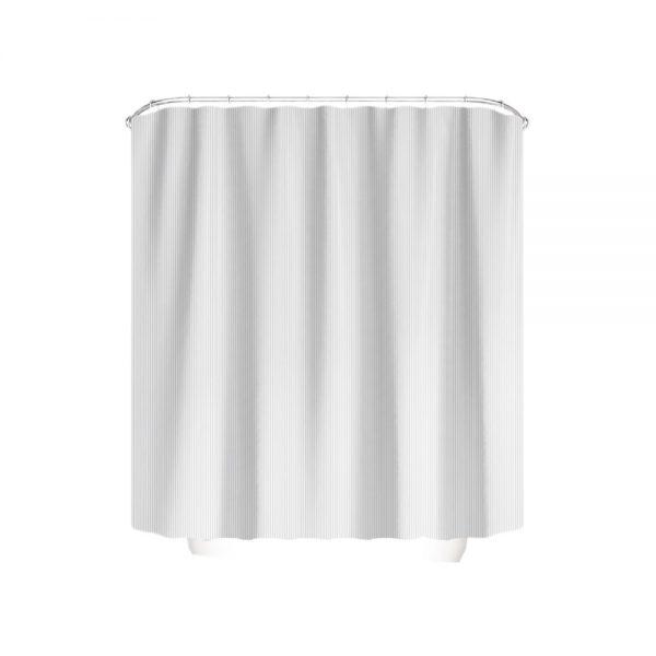 badeforhæng 120x200 med hvide og grå striber