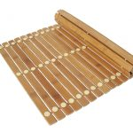 finehome bambus bademåtte kan rulles sammen