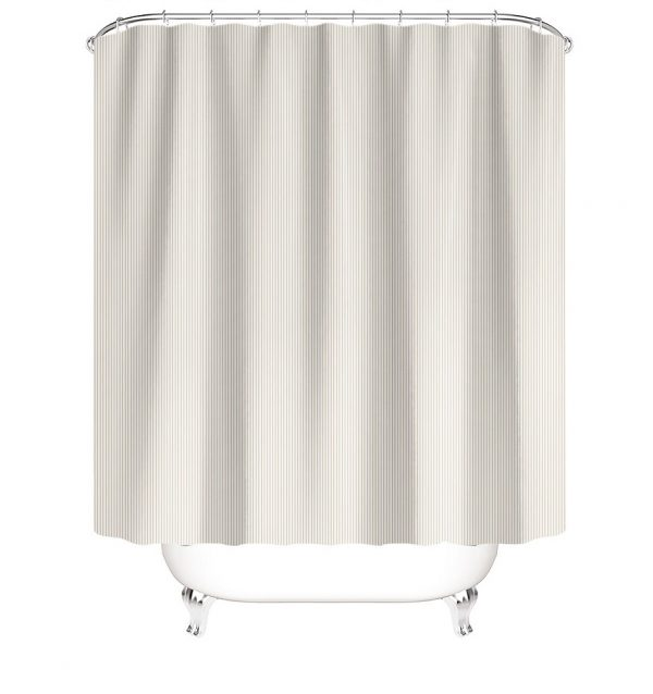 120x200 cm bruseforhæng beige hvid med metalhangers
