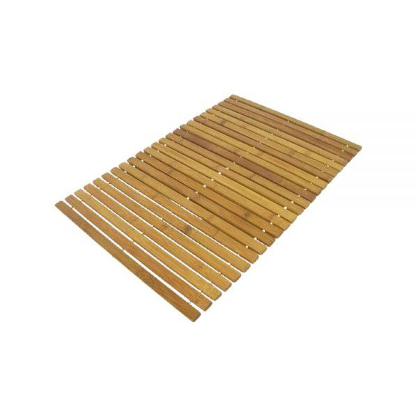 Lækker bæredygtig bambus bademåtte 50x70 cm