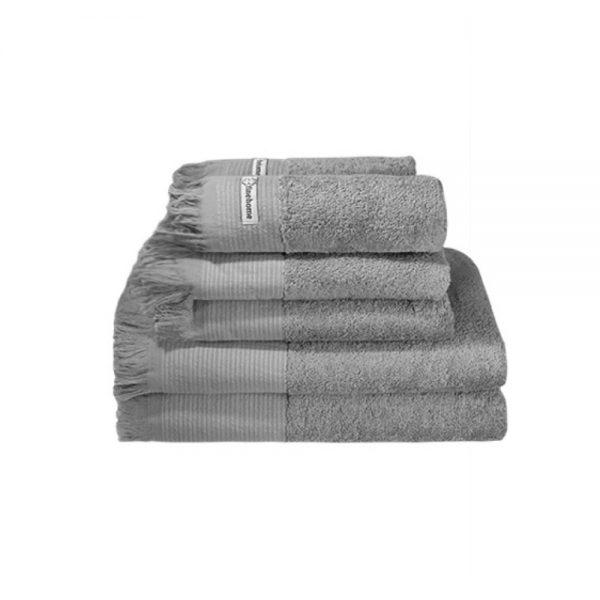 tilbud håndklæder i grå håndklædepakke - 6 stk.