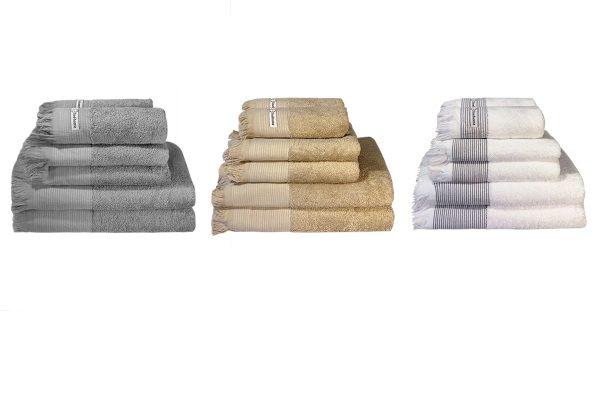 Håndklædesæt grå, beige eller hvid