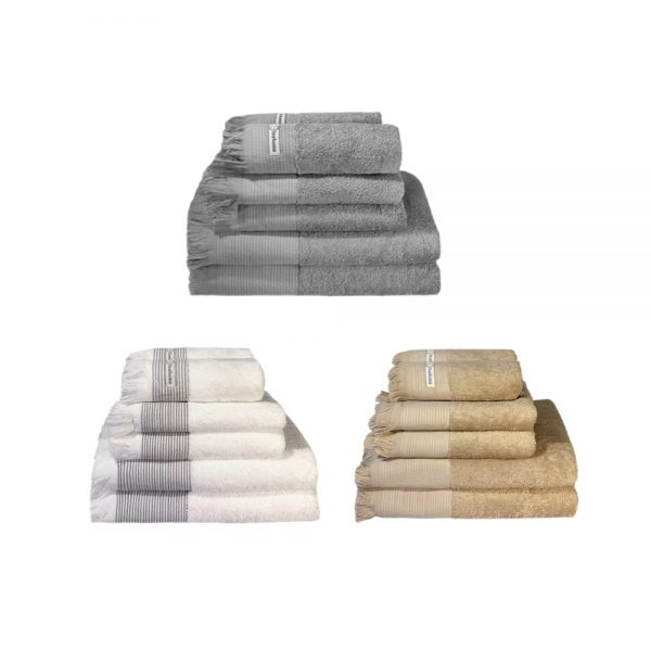 tilbud håndklæder i håndklædesæt fra finehome