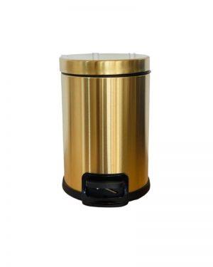Toiletspand i guld farve med soft luk