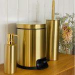 Badeværelsestilbehør guld